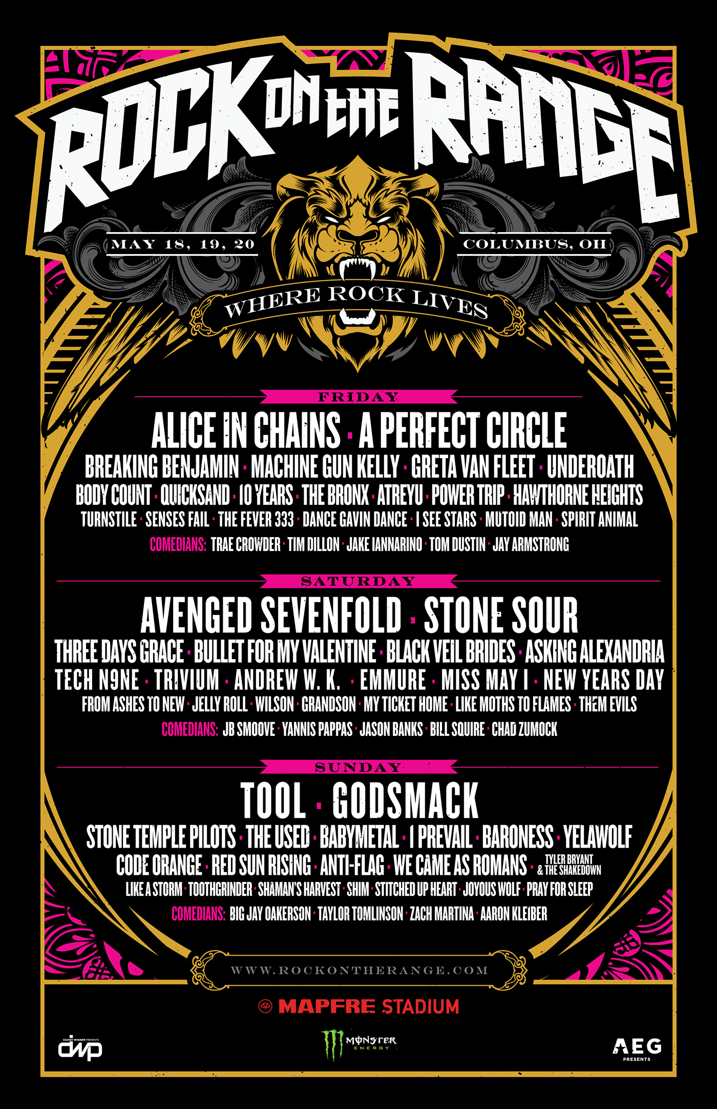 Rock On The Range 2019 Schedule ROCK ON THE RANGE